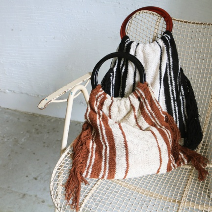 Circlehandle Knit Bag(ブラック)