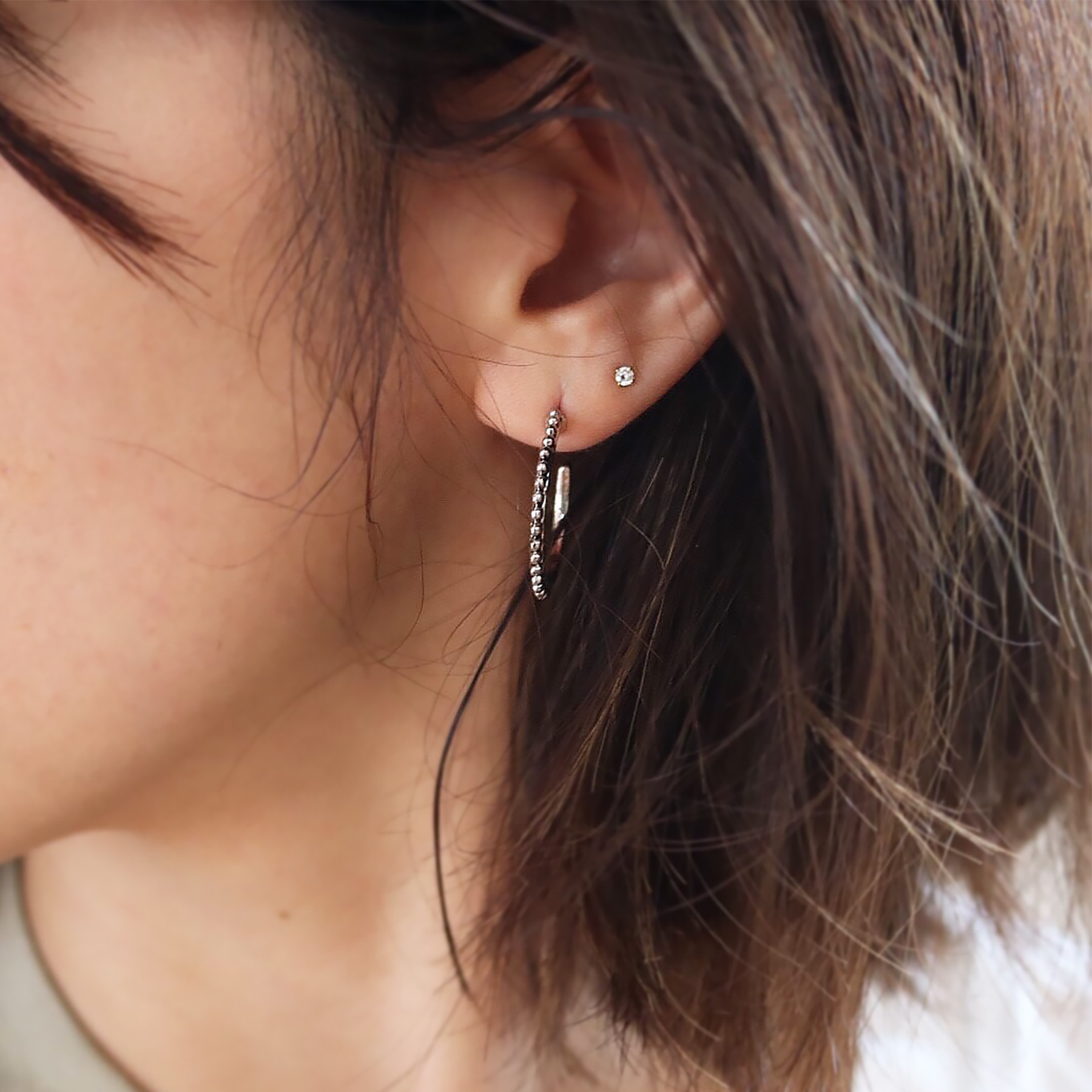 Texture Hoop Pierce