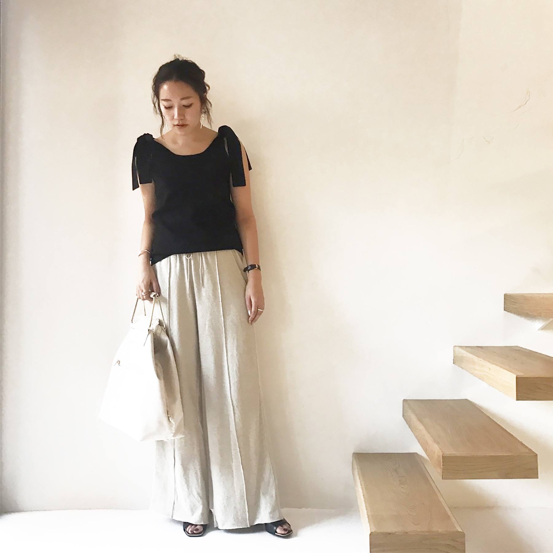 Linen Gather Pants