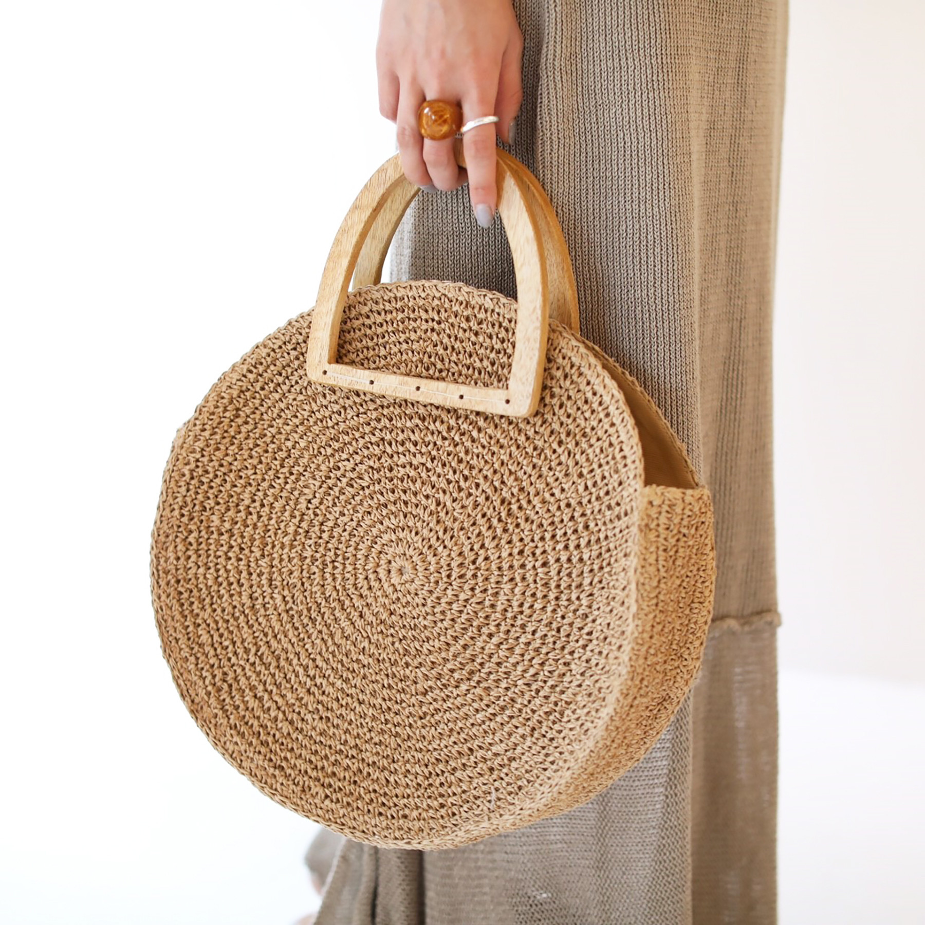 Woodhandle Circle Bag