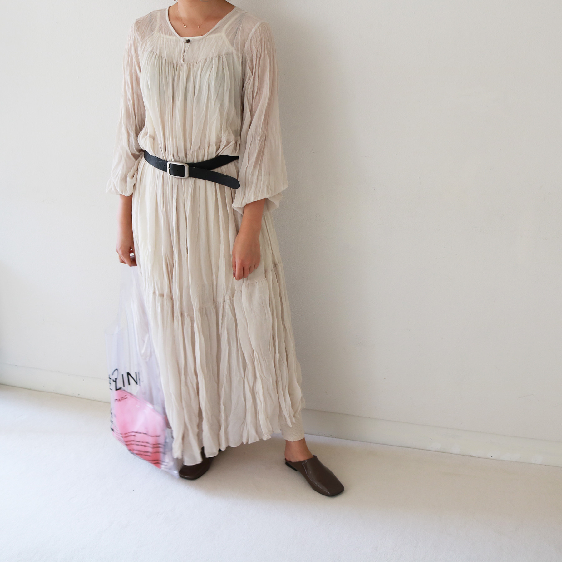Chiffon Crepe Dress