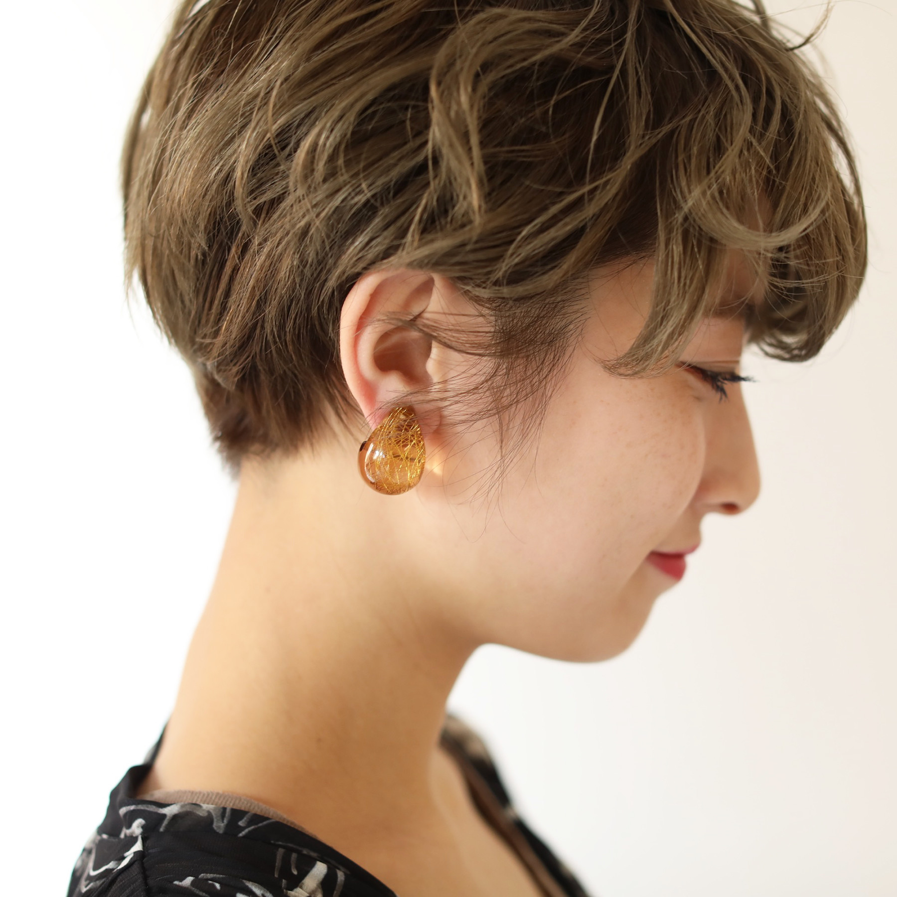 Clear Voluminous Earring