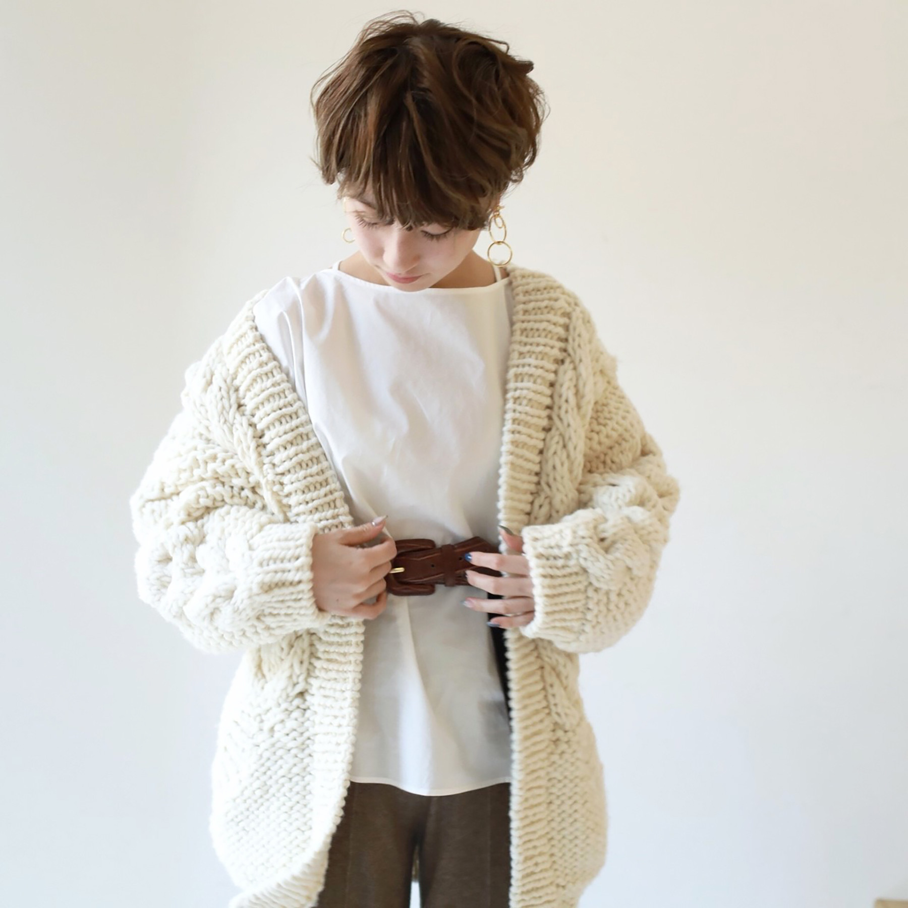 Cable Handkint Cardigan
