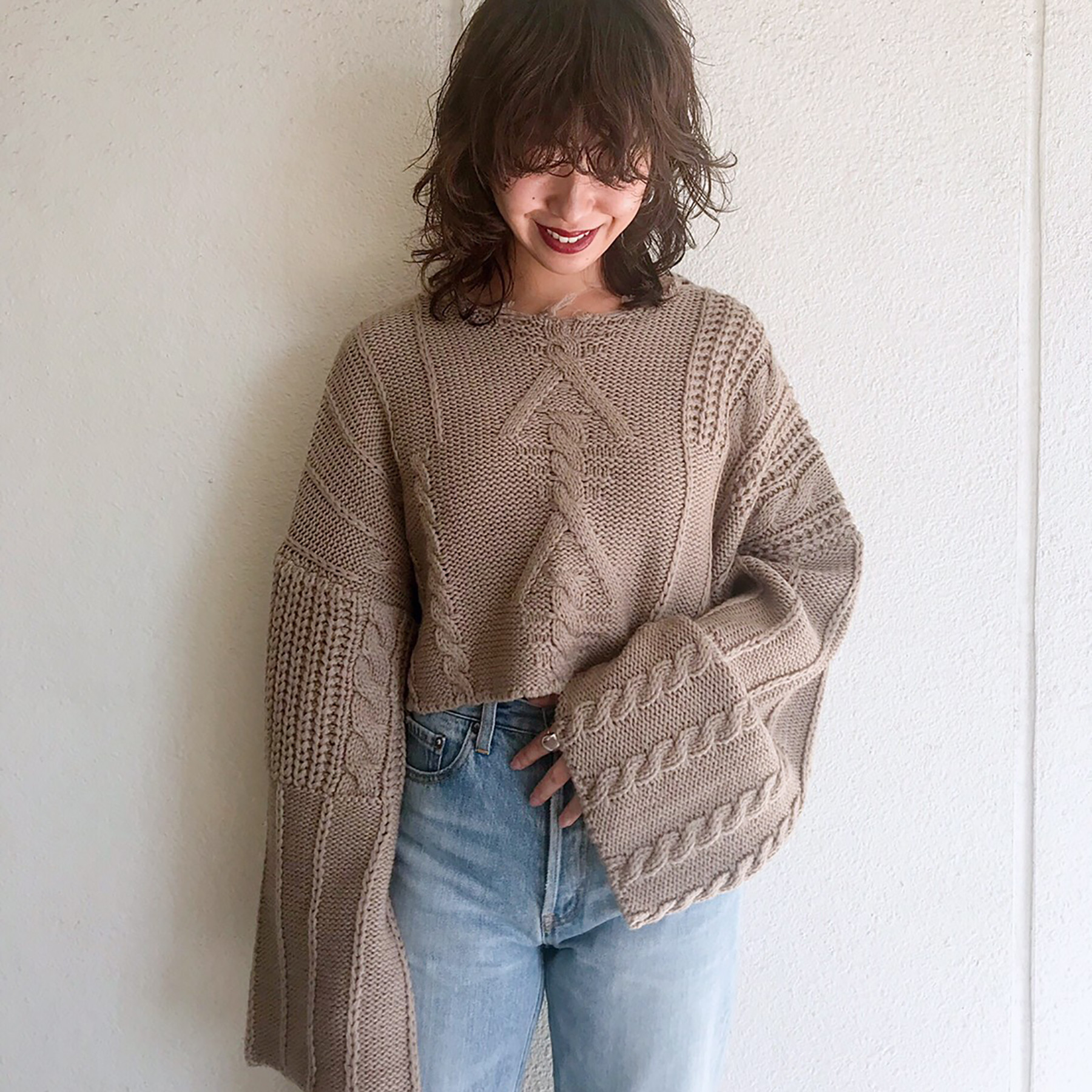Damage Aran Knit