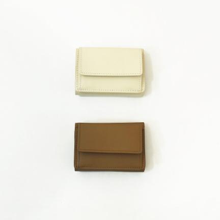 Leather Mini Wallet(ベージュ)